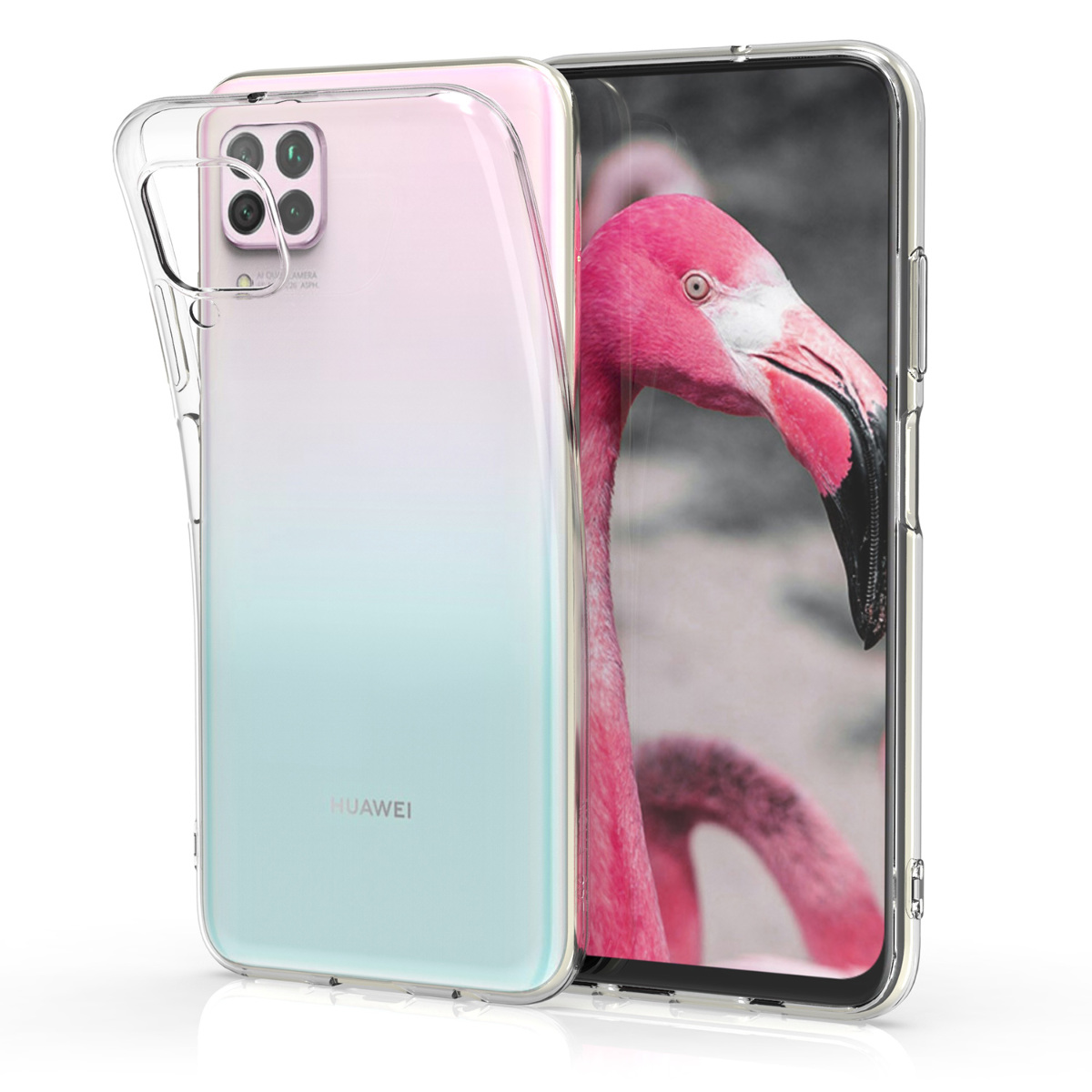 KW Θήκη Σιλικόνης Huawei P40 Lite - Transparent (51466.03)