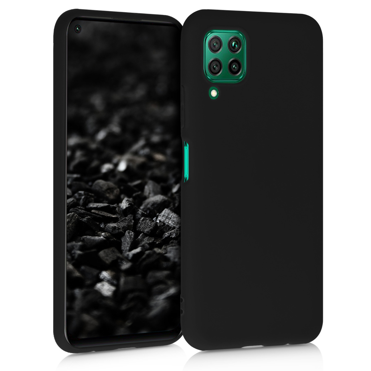 KW Θήκη Σιλικόνης Huawei P40 Lite - Black (51519.01)