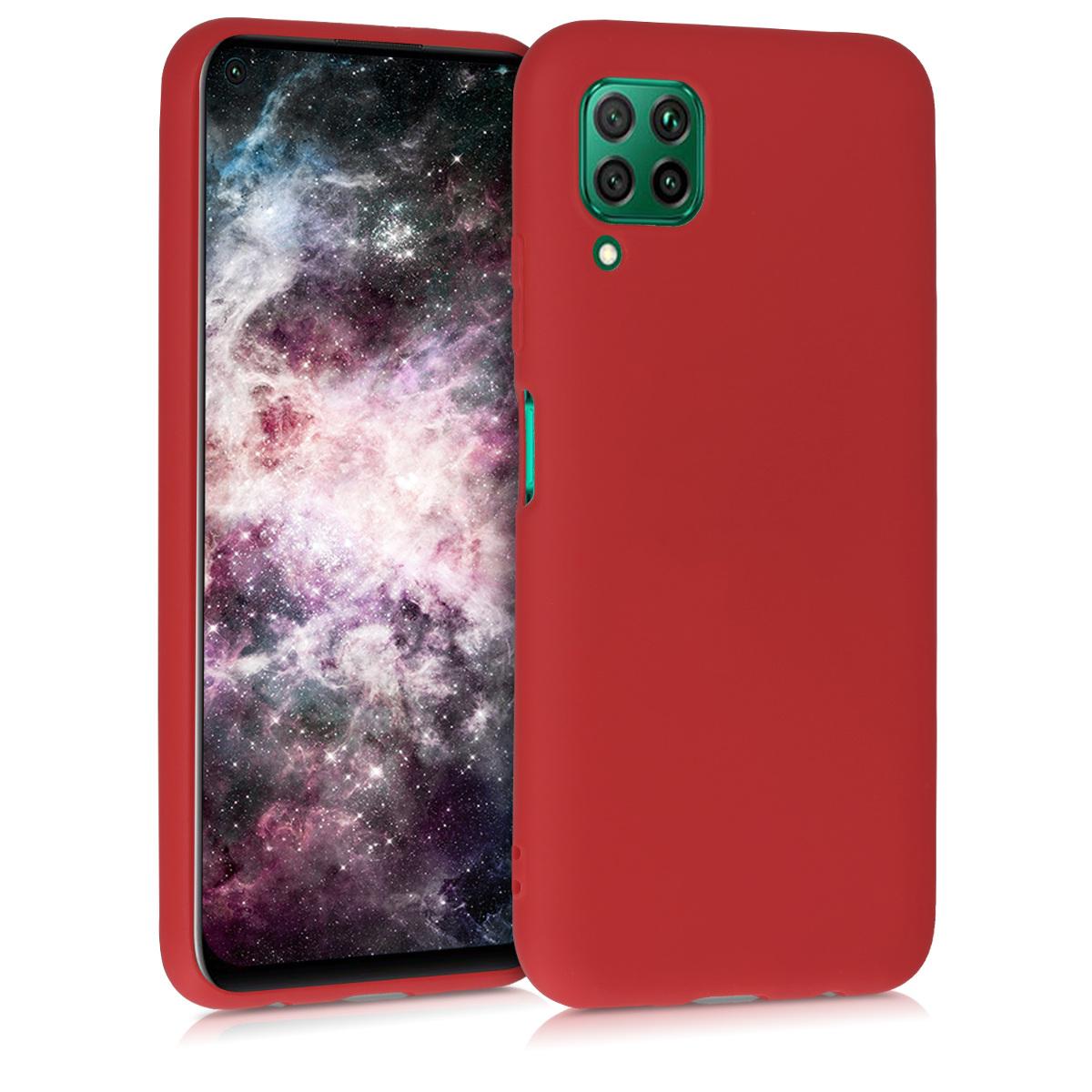 KW Θήκη Σιλικόνης Huawei P40 Lite - Dark Red (51519.20)