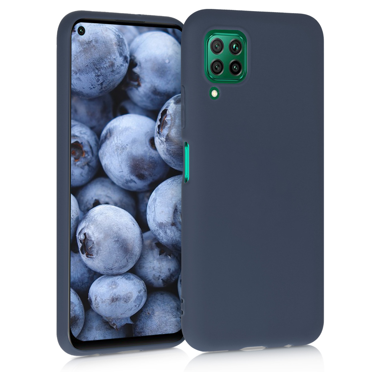KW Θήκη Σιλικόνης Huawei P40 Lite - Dark Blue Matte (51519.53)