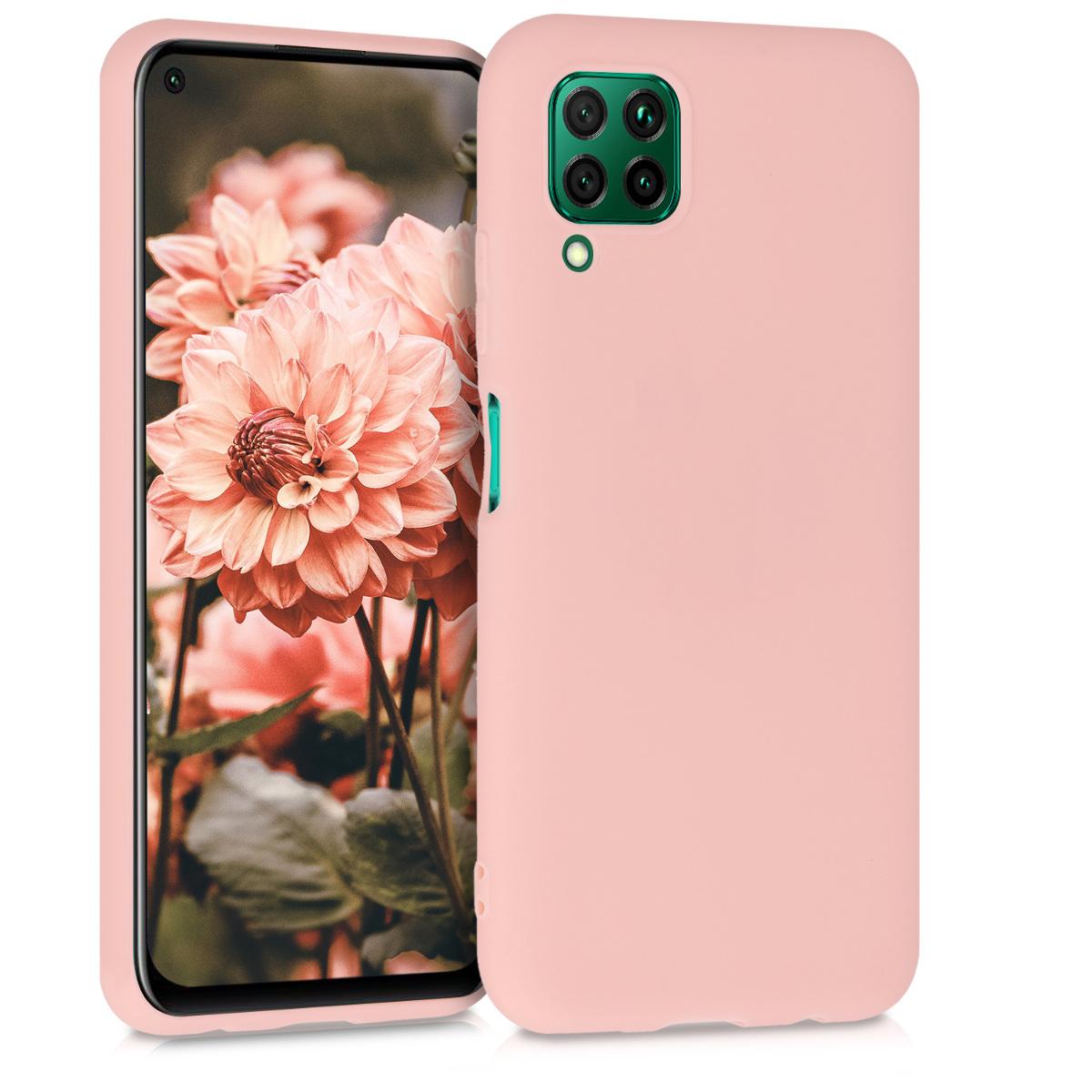 KW Θήκη Σιλικόνης Huawei P40 Lite - Rose Gold Matte (51519.89)