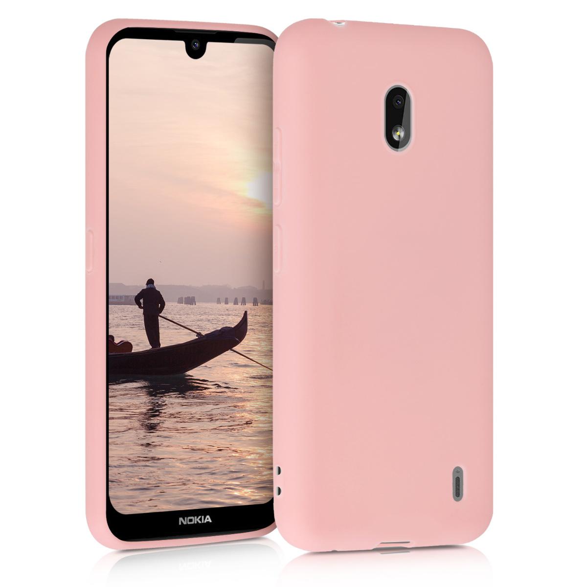 KW Θήκη Σιλικόνης Nokia 2.2 - Rose Gold Matte (51523.89)