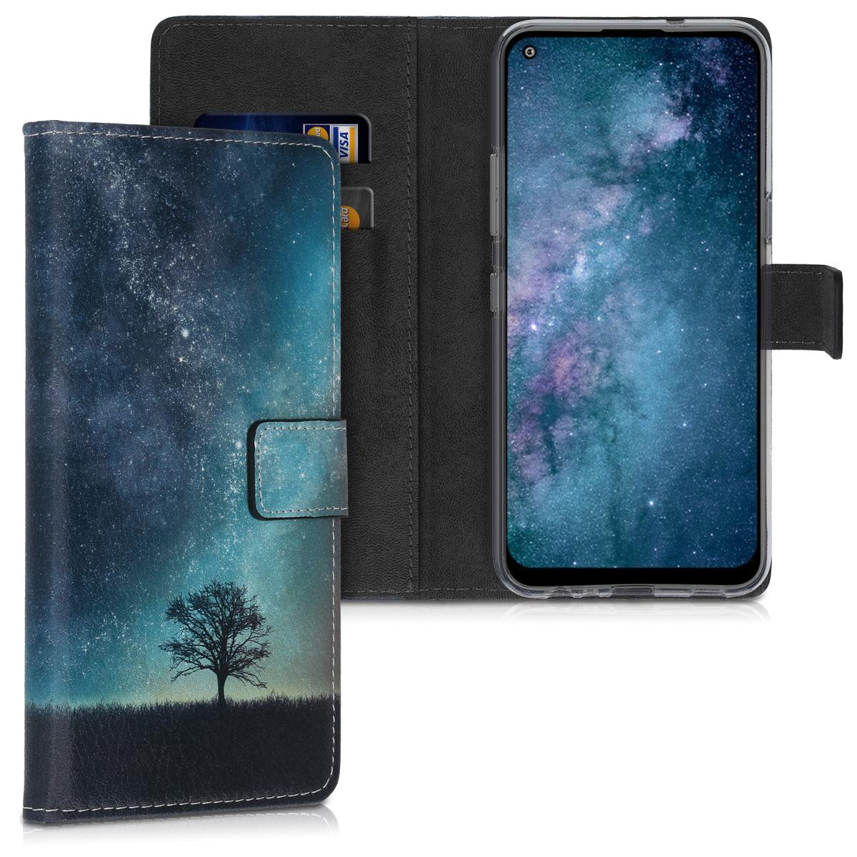 KW Θήκη Πορτοφόλι LG K61 - Cosmic Nature Blue / Grey / Black (52065.02)