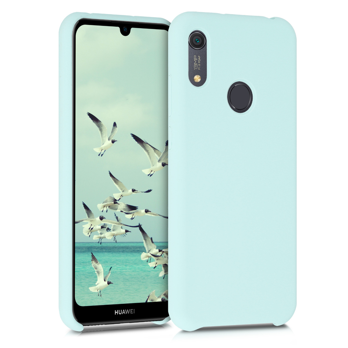 KW Θήκη Σιλικόνης Huawei Y6s 2019 - Soft Flexible Rubber Protective Cover - Mint Matte (52410.50)