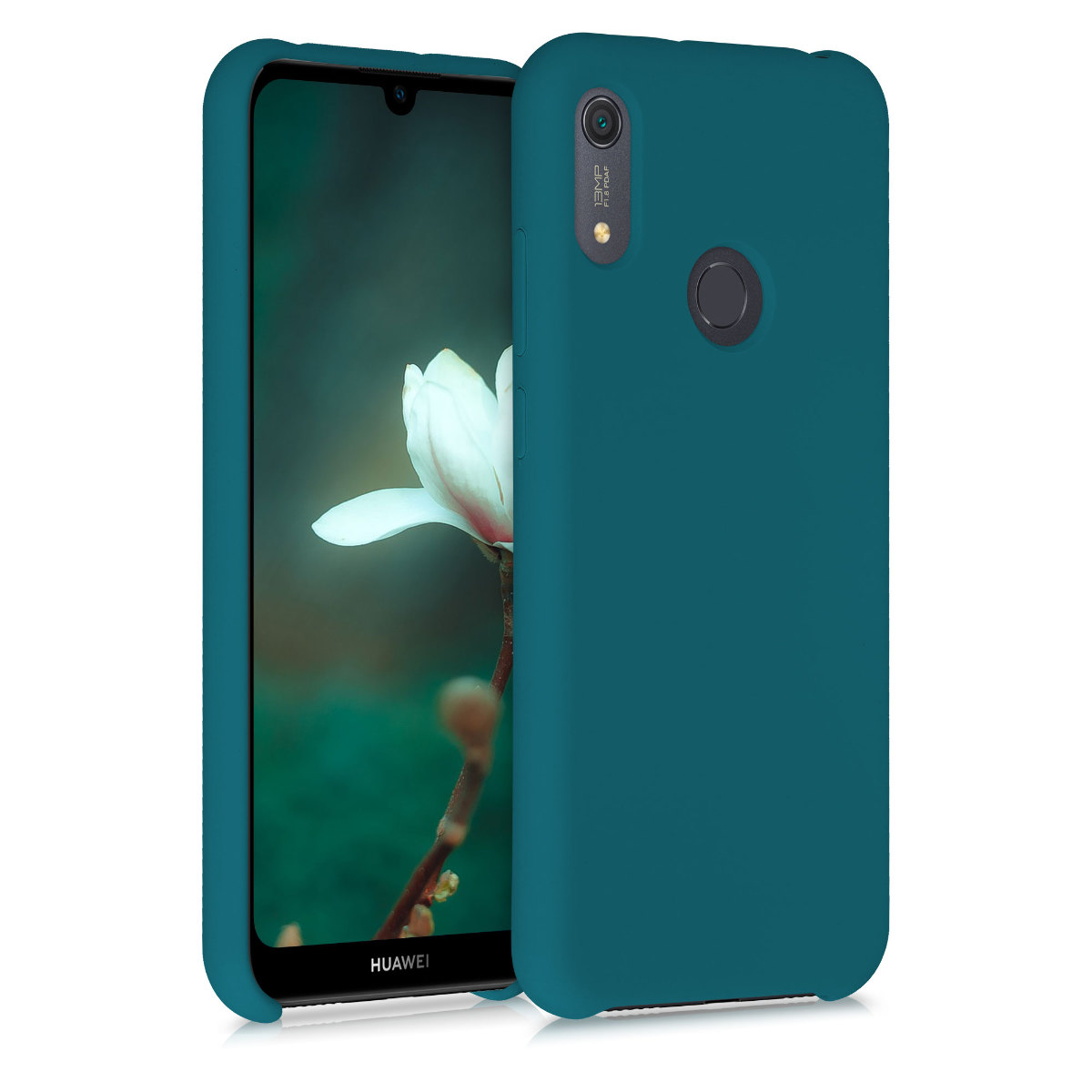 KW Θήκη Σιλικόνης Huawei Y6s 2019 - Soft Flexible Rubber Protective Cover - Teal Matte (52410.57)