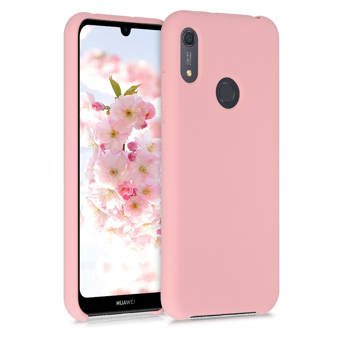 KW Θήκη Σιλικόνης Huawei Y6s 2019 - Soft Flexible Rubber Protective Cover  - Rose Gold Matte (52410.89)
