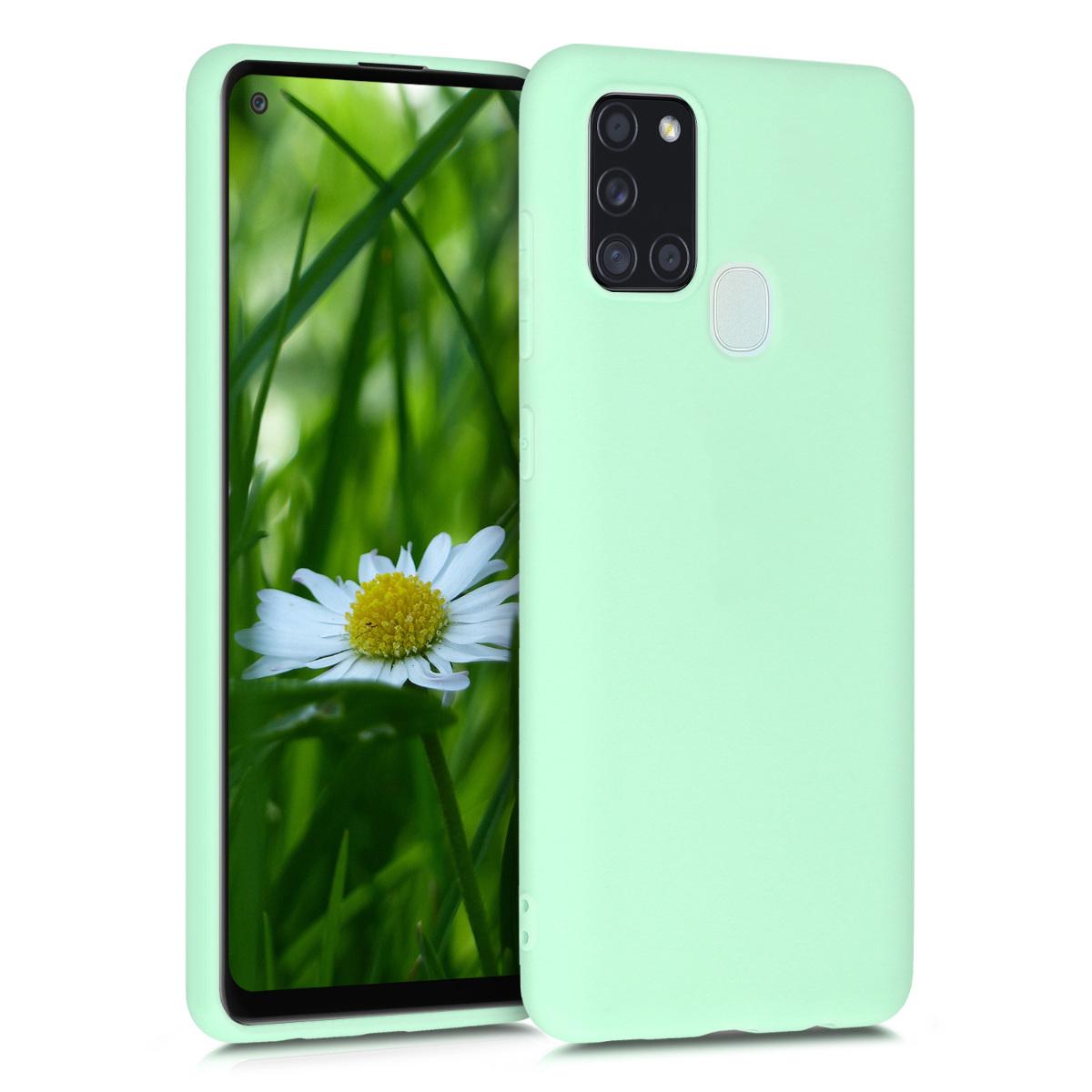 KW Θήκη Σιλικόνης Samsung Galaxy A21s - Mint Matte (52494.50)