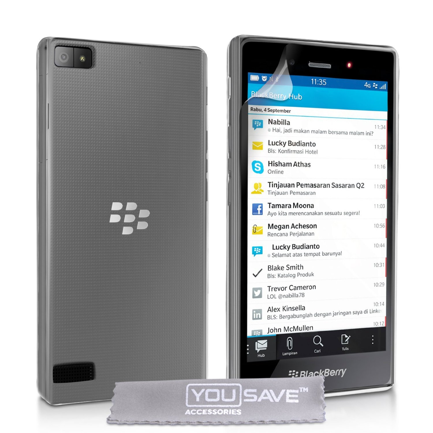 Ημιδιάφανη Θήκη Blackberry Z3 by Yousave (BL-BB01-Z310)