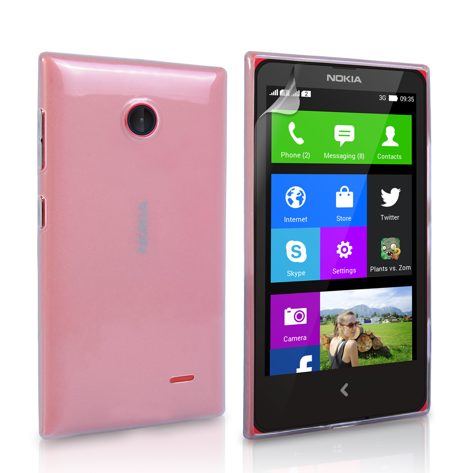 Ημιδιάφανη Θήκη Nokia X by YouSave (Z315)