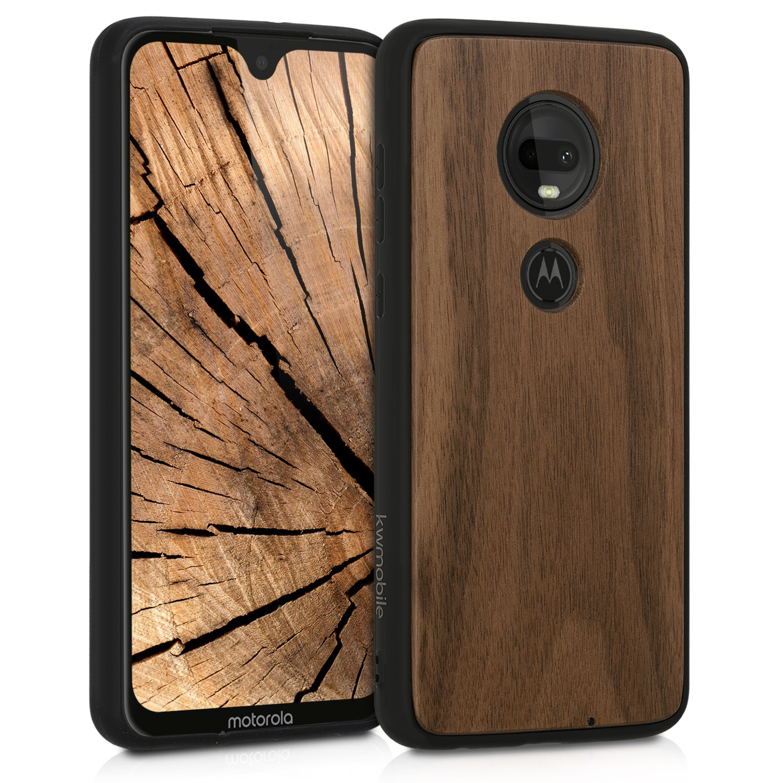 KW Σκληρή Ξύλινη Θήκη Motorola Moto G7 / G7 Plus - Dark Brown (47489.18)