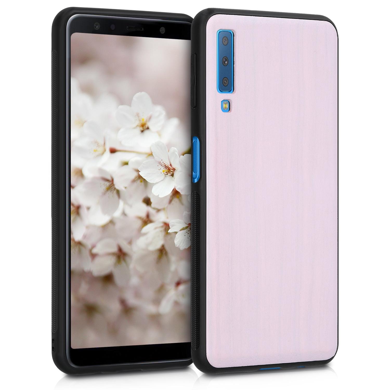 KW Ξύλινη Θήκη Samsung Galaxy A7 2018 - Light Pink (47928.110)