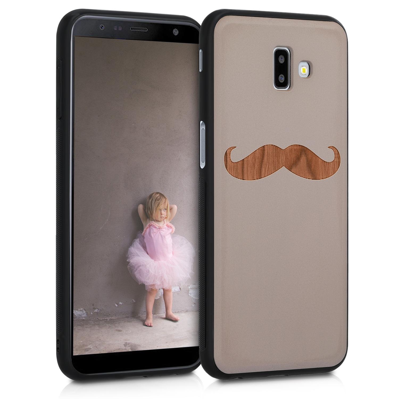 KW Ξύλινη Θήκη Samsung Galaxy J6+ / J6 Plus DUOS - Wood Mustache cherrywood (47481.03)