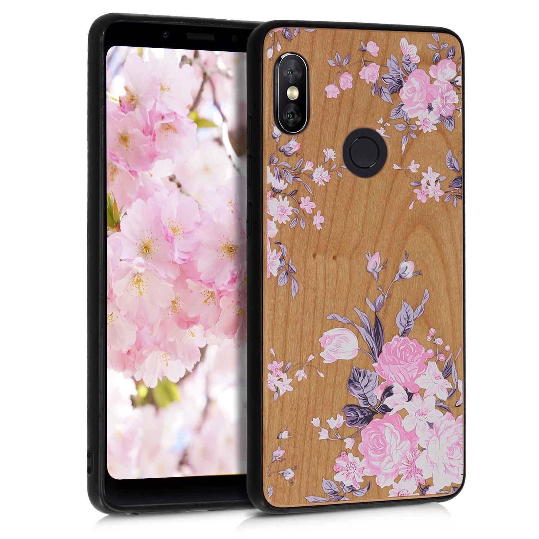 KW Ξύλινη Θήκη Xiaomi Redmi Note 5 / Note 5 Pro - Flowers Cherrywood (46185.03)