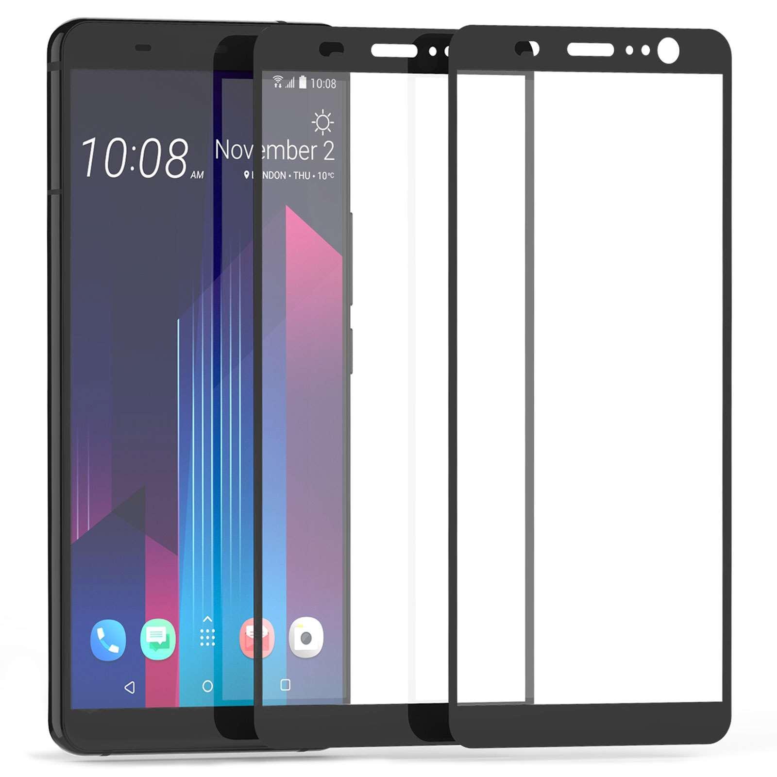 Caseflex Tempered Glass - Αντιχαρακτικό with Black Edge Γυαλί Οθόνης HTC U11 Plus - 2 τεμάχια (HT-DA06-Z123)