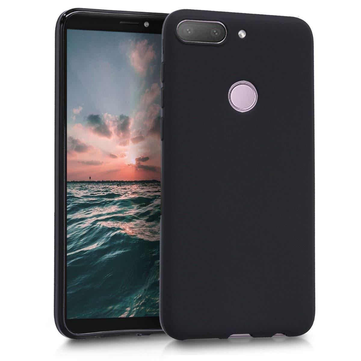 KW Θήκη Σιλικόνης HTC Desire 12+ (Black) - (44792.47)