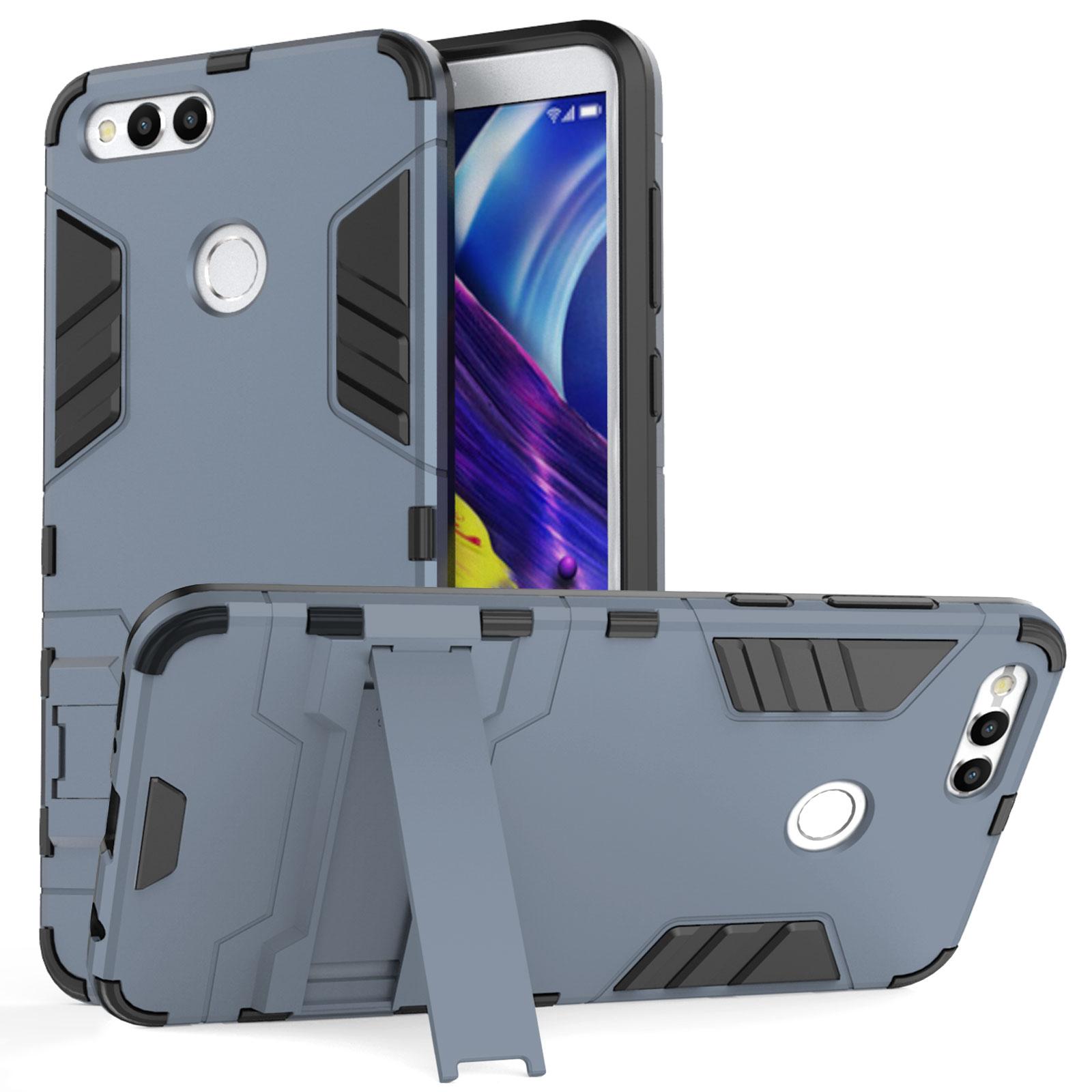 Caseflex Ανθεκτική Dual Layer Θήκη με Stand Honor 7x - Steel Blue & Screen Protector  (HU-AW03-Z528)