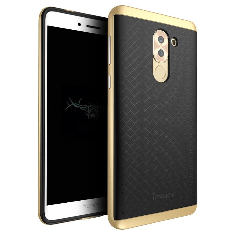 Ipaky Θήκη Hybrid Huawei Honor 6X - Black/Gold (9365) θήκες κινητών