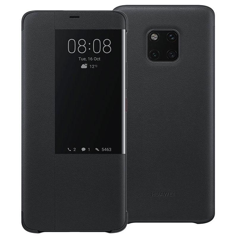 Official Smart View Flip Cover - Θήκη Smart Window Huawei Mate 20 Pro - Black (51992696)