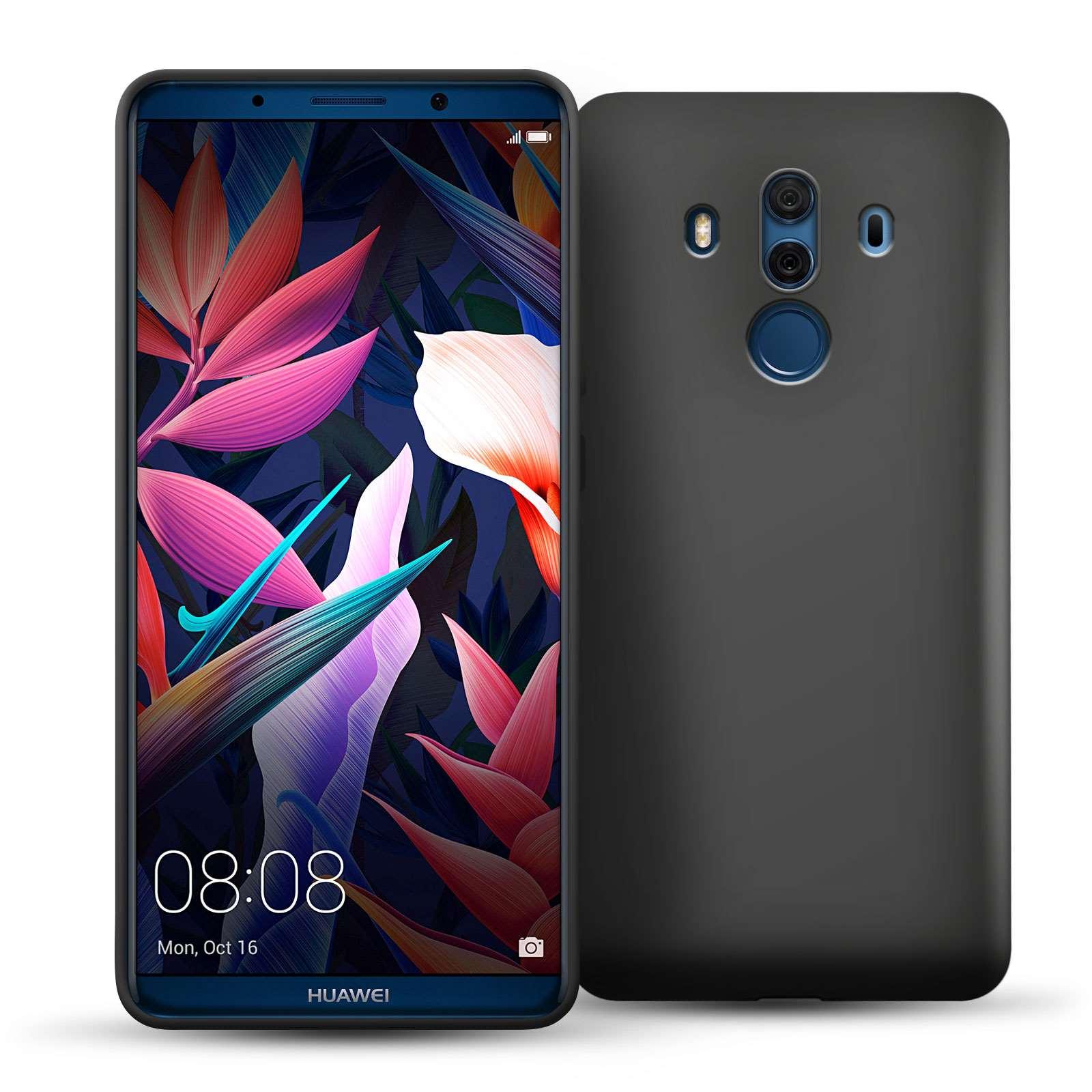 Caseflex Θήκη Σιλικόνης Huawei Mate 10 Pro - Matte Black (HU-AW03-Z519)