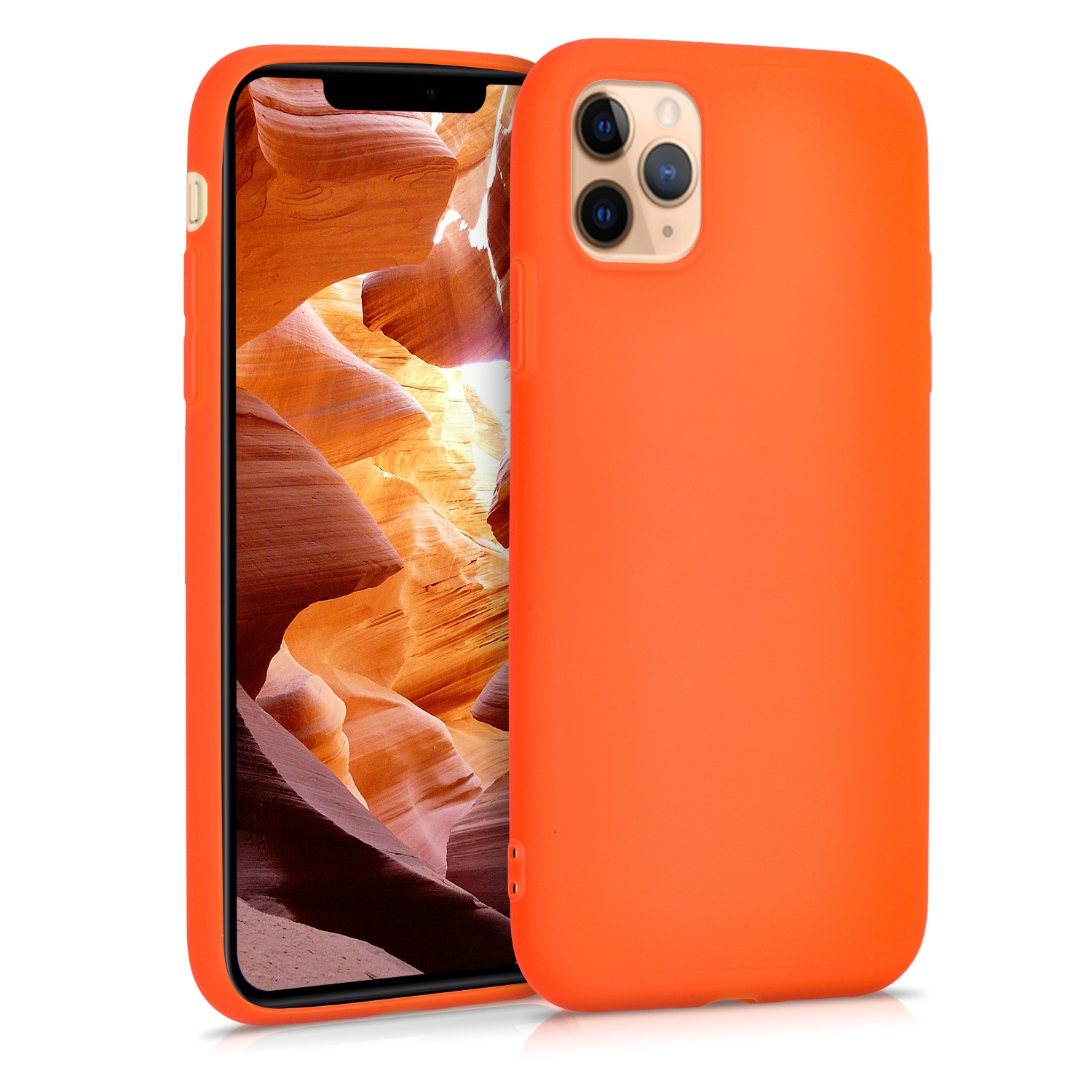 KW Θήκη Σιλικόνης Apple iPhone 11 Pro - Neon Orange (49781.69)