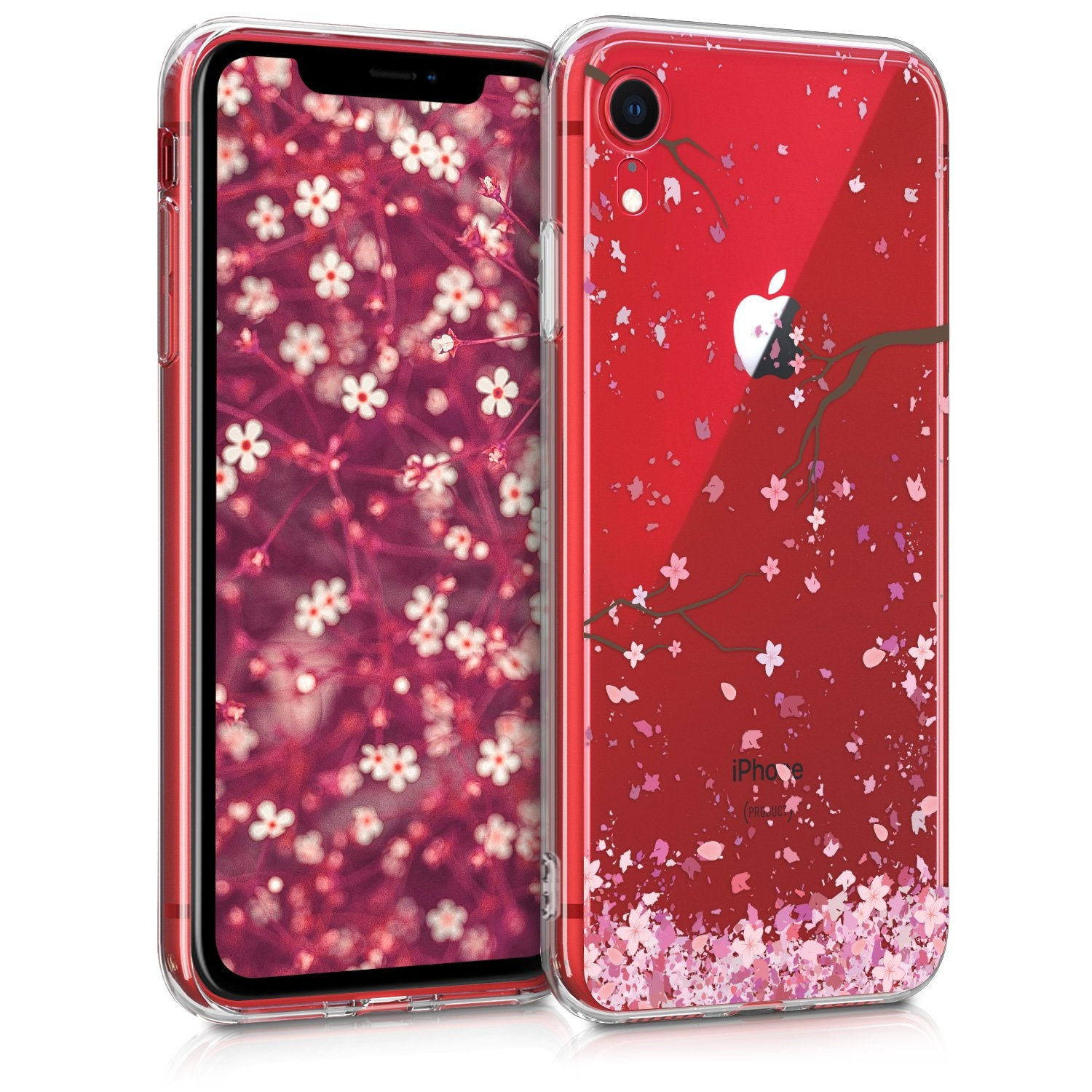 KW Θήκη Σιλικόνης Apple iPhone XR - Light Pink / Dark Brown / Transparent (45915.22)
