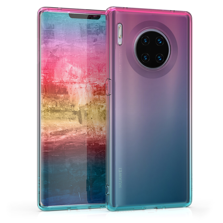 KW Θήκη Σιλικόνης Huawei Mate 30 Pro - Dark Pink / Blue / Transparent (50134.01)