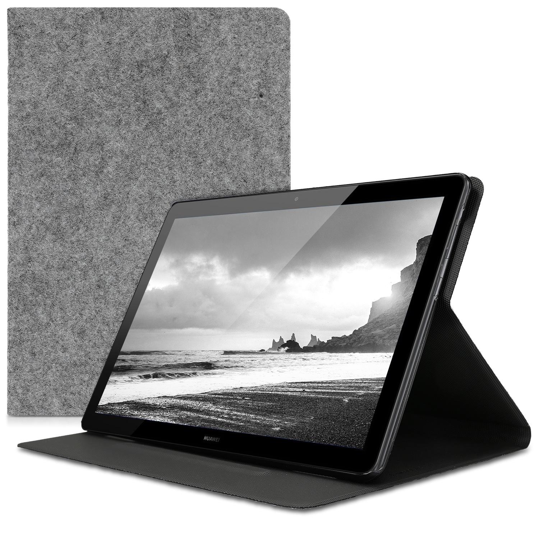 KW Θήκη Πορτοφόλι Huawei MediaPad T5 10 - Light Grey (46988.01)