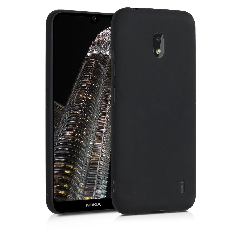 KW Θήκη Σιλικόνης Nokia 2.2 - Soft Flexible Shock Absorbent - Black Matte (49452.47)