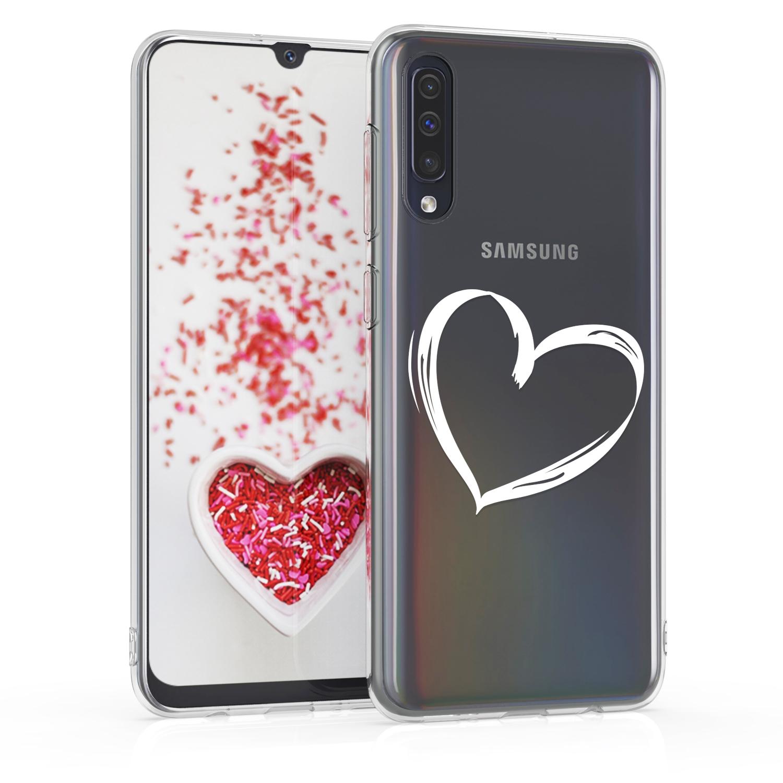 KW Θήκη Σιλικόνης Samsung Galaxy A50 - White / Transparent (48060.02)