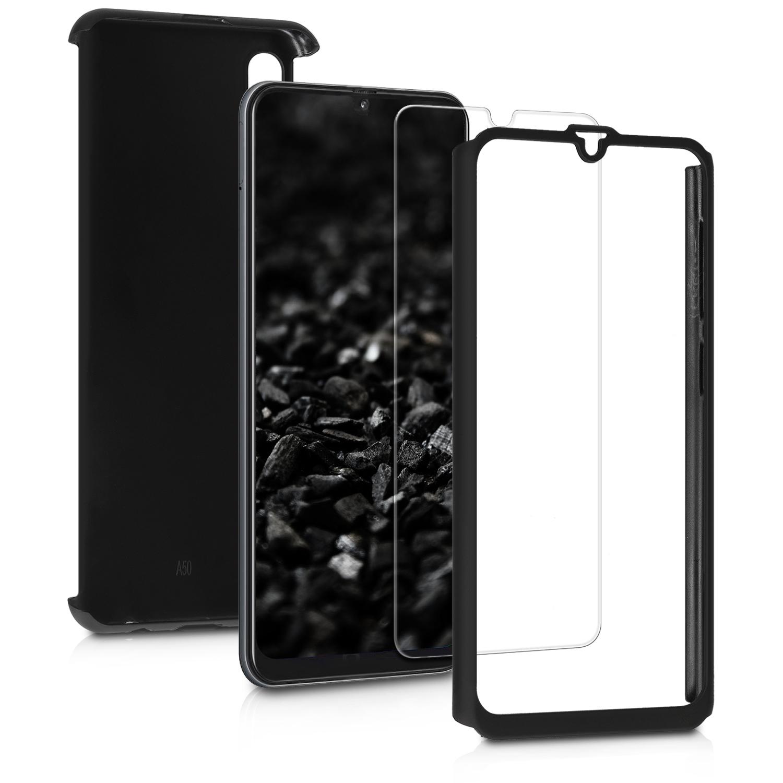 KW Θήκη Full Body Samsung Galaxy A50 & Tempered Glass - Metallic Black (48065.68)