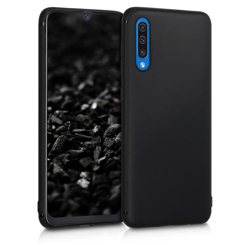 KW Θήκη Σιλικόνης Samsung Galaxy A50 - Soft Flexible Shock Absorbent - Black Matte (48054.47)