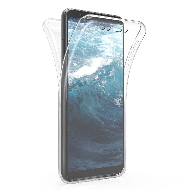 KW Διάφανη Θήκη Σιλικόνης Full Body Samsung Galaxy A7 2018 - White / Transparent (47624.01)