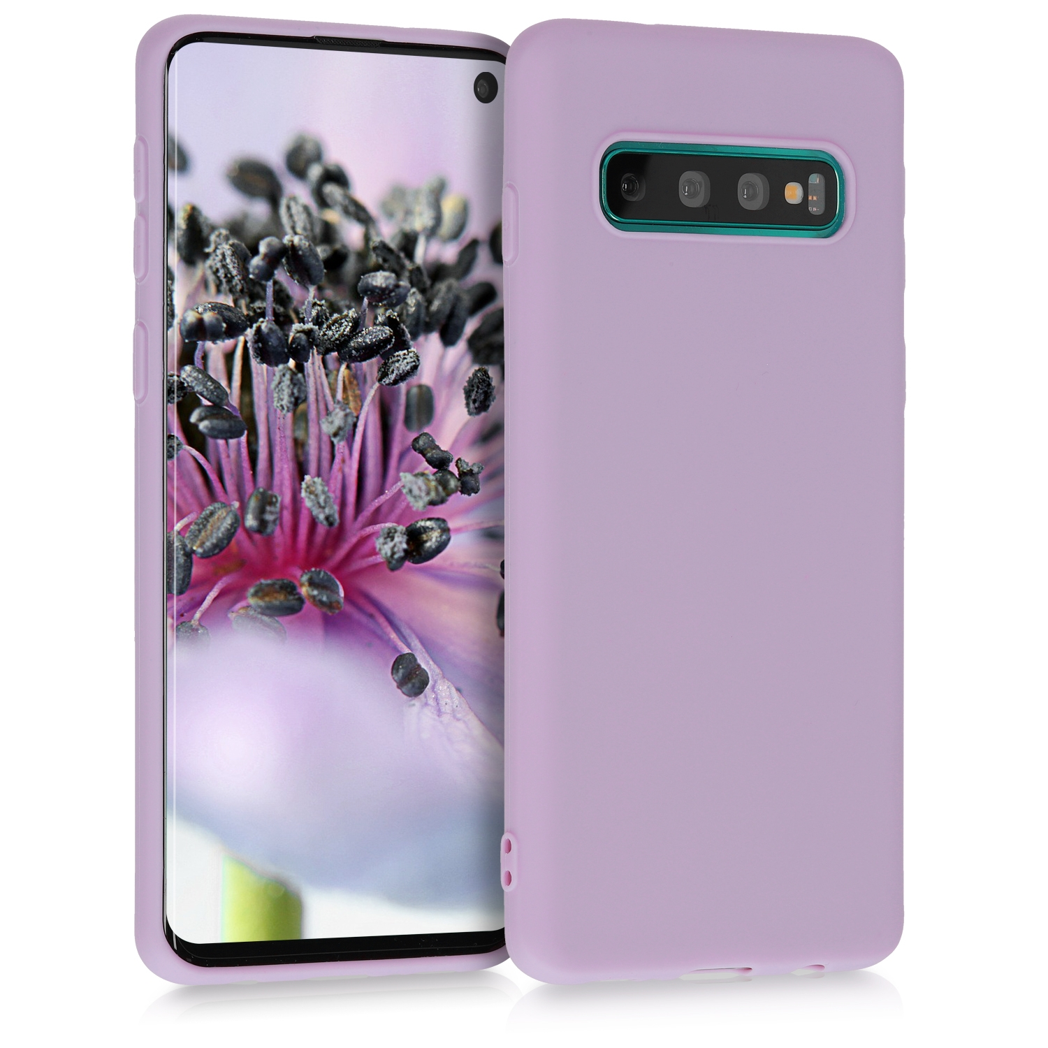 KW Θήκη Σιλικόνης Samsung Galaxy S10 - Soft Flexible Shock Absorbent Protective - Mauve (47447.140)