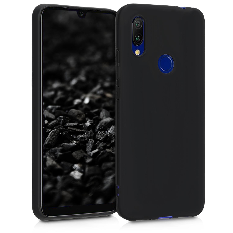 KW Θήκη Σιλικόνης Xiaomi Redmi 7 - Soft Flexible Shock Absorbent - Black Matte (48649.47)