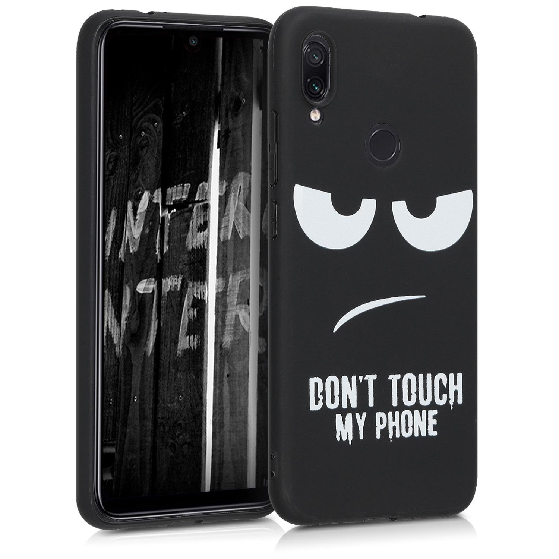 KW Θήκη Σιλικόνης Xiaomi Redmi Note 7 / Note 7 Pro - White / Black (48449.01)