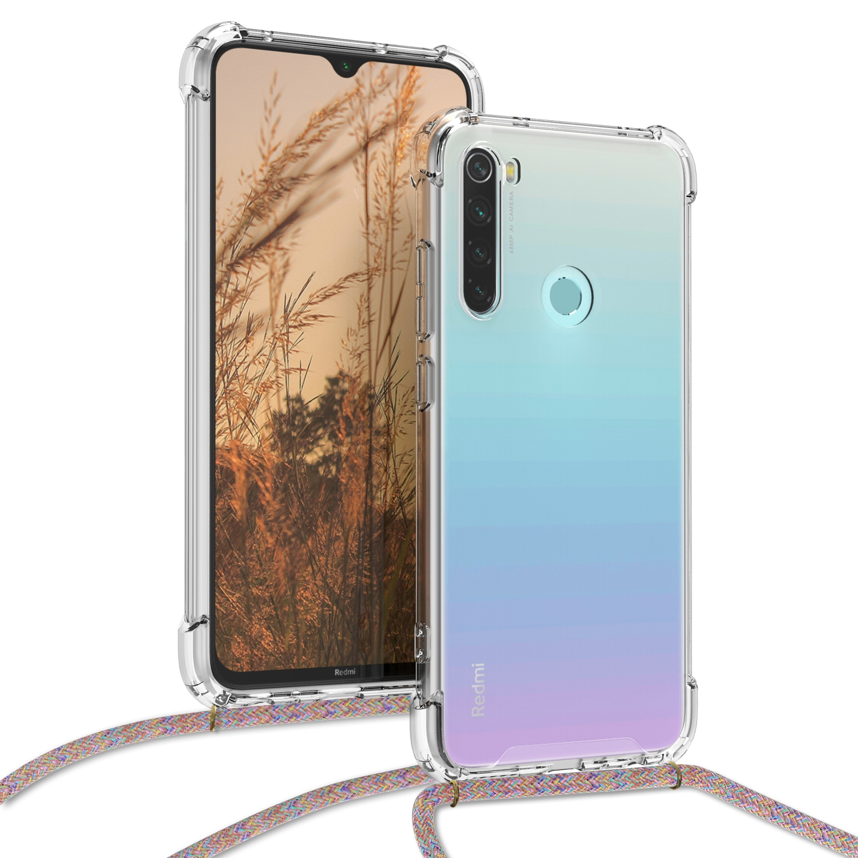 KW Διάφανη Θήκη Σιλικόνης με Λουράκι Xiaomi Redmi Note 8 - Multicolor / Transparent (50183.32)