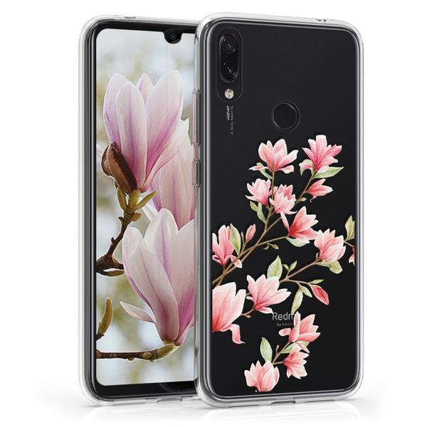 KW Θήκη Σιλικόνης Xiaomi Redmi Note 7 / Note 7 Pro - Light Pink / White / Transparent (48156.01)