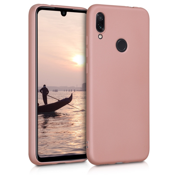 KW Θήκη Σιλικόνης Xiaomi Redmi Note 7 / Note 7 Pro - Soft Flexible Shock Absorbent - Metallic Rose Gold (47570.31)
