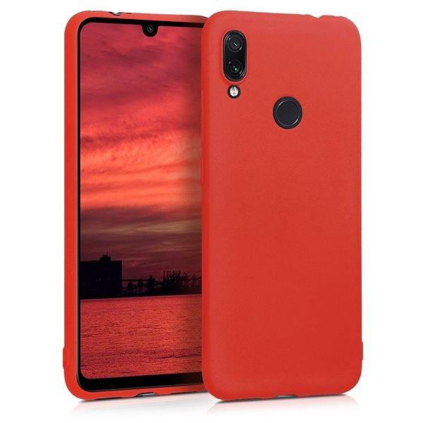 KW Θήκη Σιλικόνης Xiaomi Redmi Note 7 / Note 7 Pro - Soft Flexible Shock Absorbent - Neon Red (48153.111)