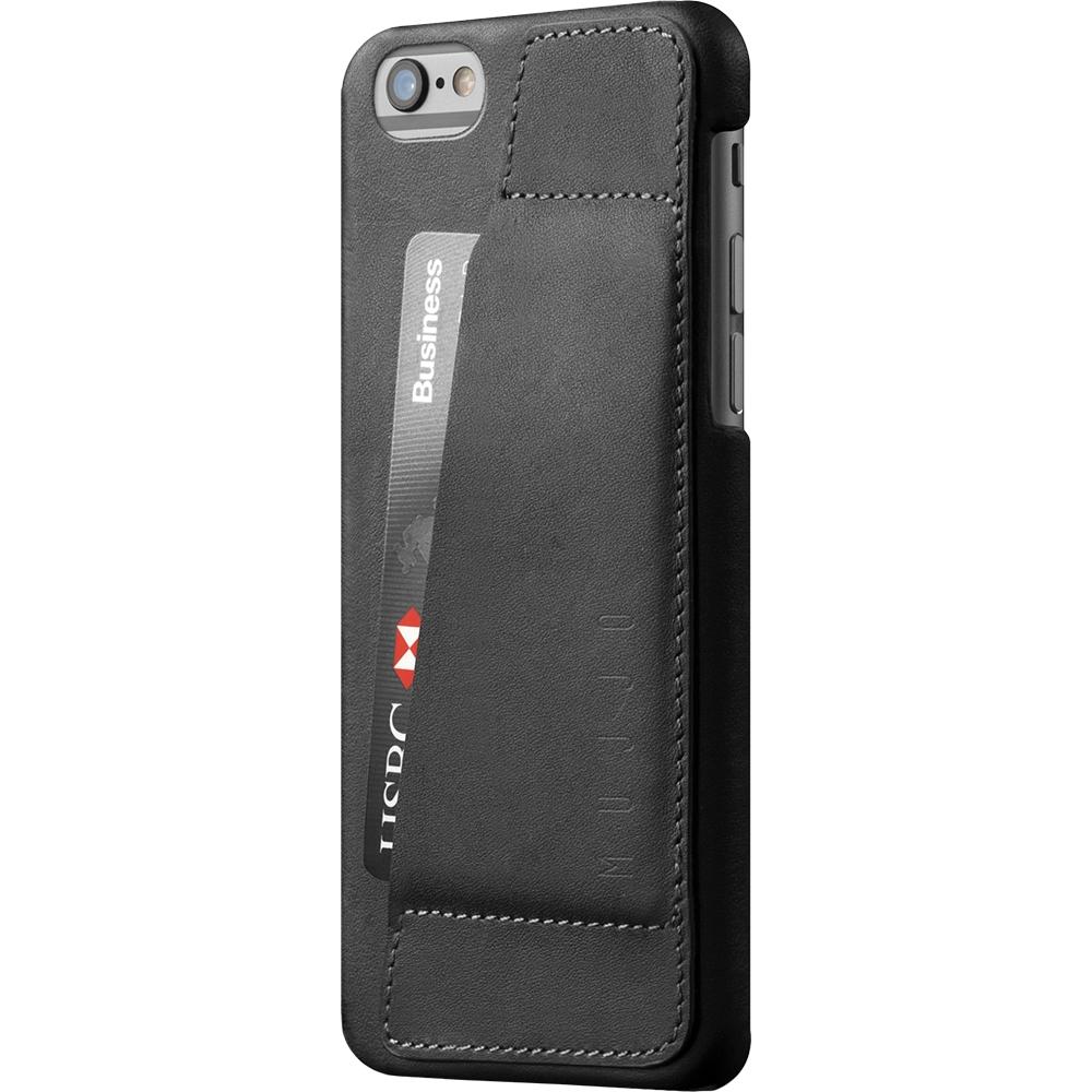 MUJJO Full Leather Wallet Case - Δερμάτινη Θήκη-Πορτοφόλι iPhone 6 Plus / 6S Plus - Black (MUJJO-SL-084-BK)