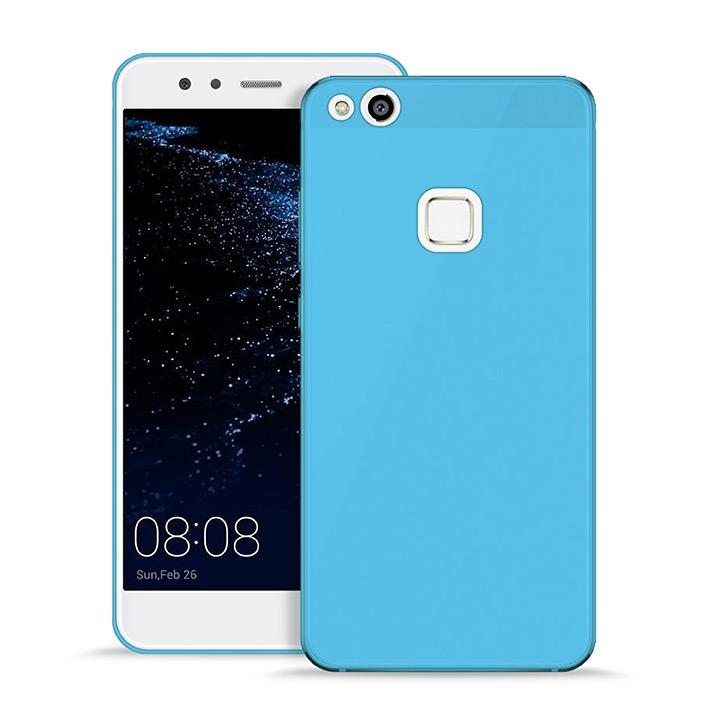 Puro Ultra Slim Θήκη Σιλικόνης Ημιδιάφανη Huawei P10 Lite - Transparent Blue (HWP10LITE03NUDE-BLUE)