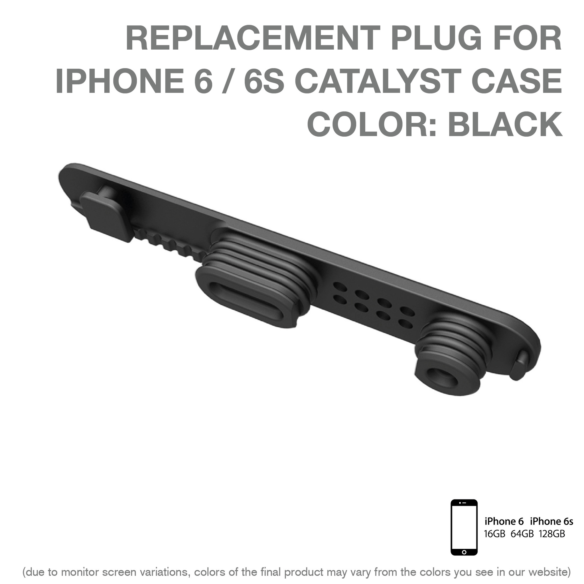 Replacement plug για Αδιάβροχη Θήκη iPhone 6/6S by Catalyst (10339)