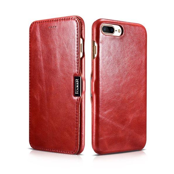 iCarer Vintage Series Side-Open Δερμάτινη Θήκη iPhone 8 Plus / iPhone 7 Plus - Red (44673)
