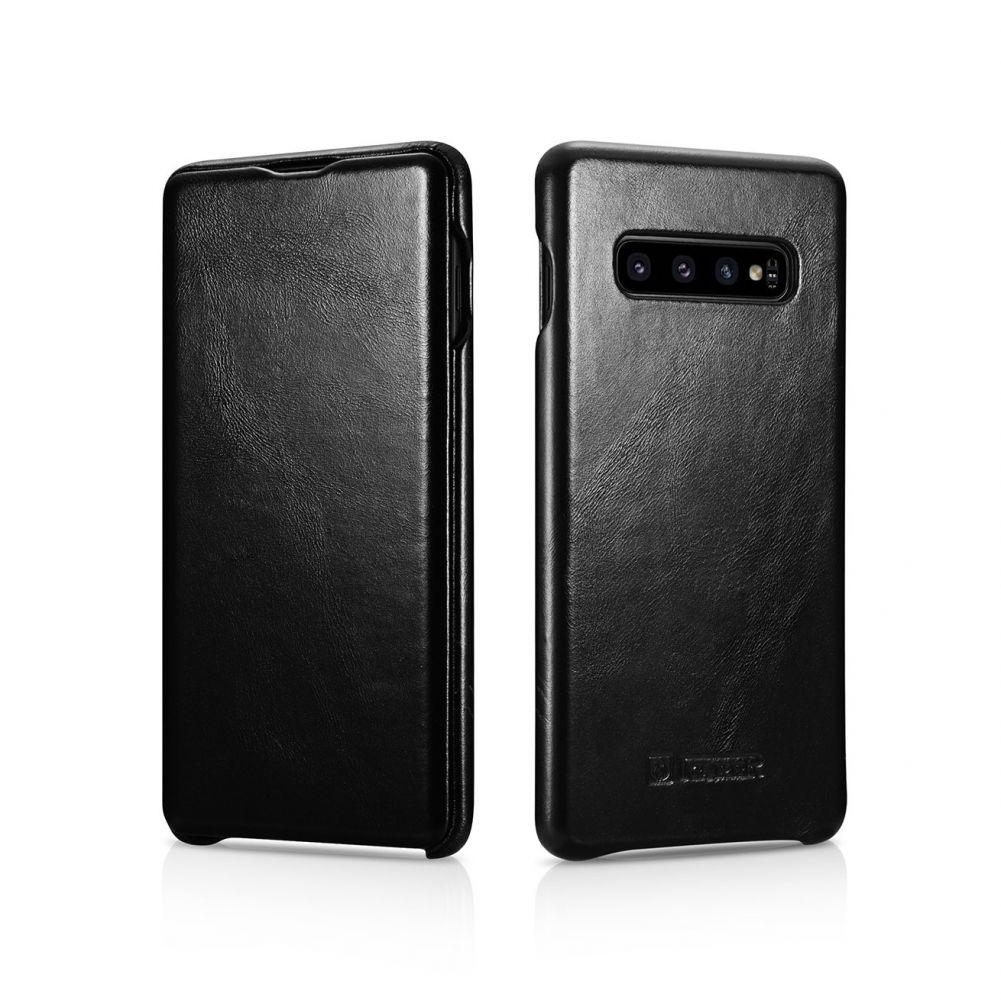 iCarer Vintage Series Side-Open Δερμάτινη Θήκη Samsung Galaxy S10 Plus - Black (RS992005-BK)