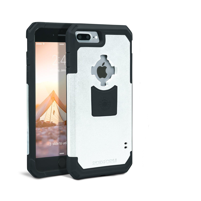 Rokform Θήκη iPhone 7 Plus V3 Case - Rugged White / Grey με Μαγνητική Βάση Αυτοκινήτου (303209)