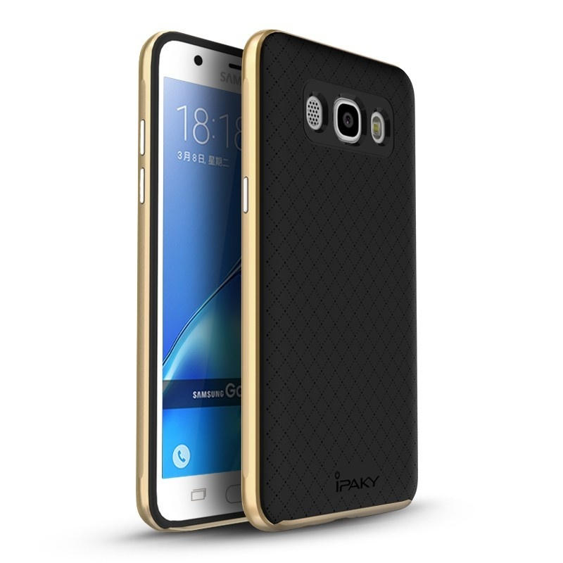Ipaky Θήκη Premium Hybrid Samsung Galaxy J7 (2016) - Gold (10345)