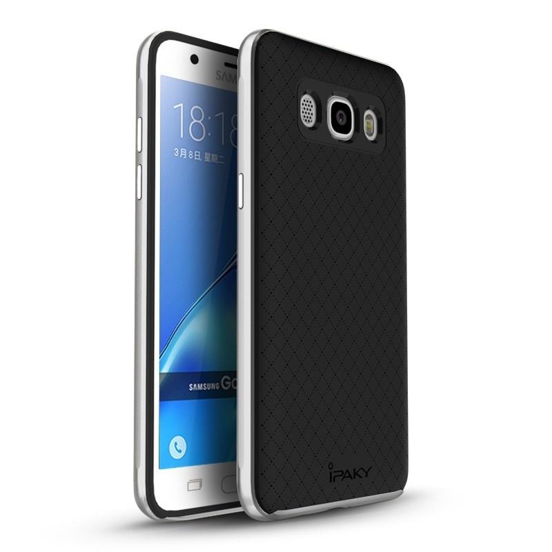 Ipaky Θήκη Premium Hybrid Samsung Galaxy J7 (2016) - Silver (10344)