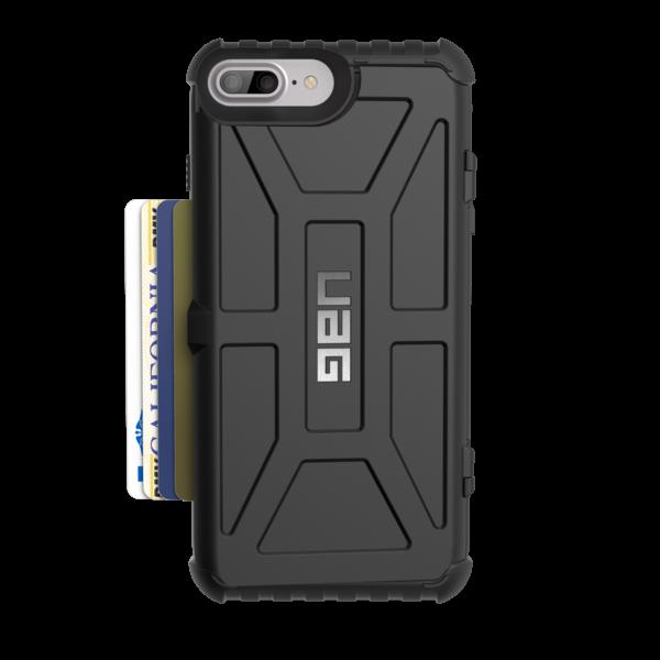 UAG Trooper Θήκη με Θέση για Κάρτες iPhone 8 Plus / 7 Plus - Black (IPH7P-T-BK)
