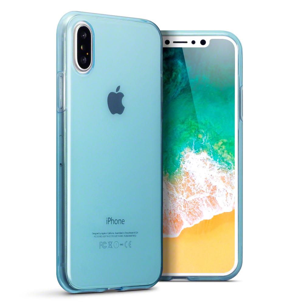 Terrapin Ημιδιάφανη Θήκη Σιλικόνης iPhone X / XS - Blue (118-125-004)