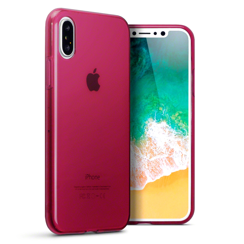 Terrapin Ημιδιάφανη Θήκη Σιλικόνης iPhone X / XS - Red (118-125-006)